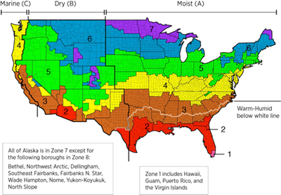IECC Climate Zone Map