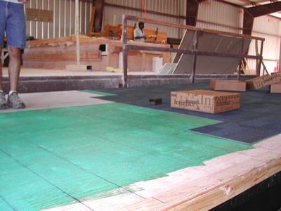 Non Permeable Backing Interface Carpet Tile Low Voc Glue